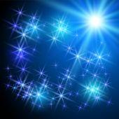 Glowing sparkle stars