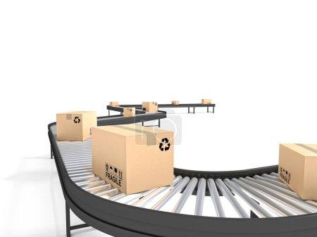 Conveyor belt line