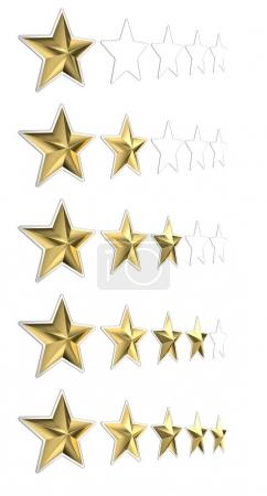 Photo for 5 golden star quality concept 3d rendering image - Royalty Free Image