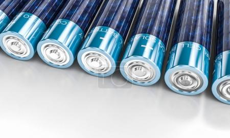 Photo pour Énergie solaire aa batterie image de rendu 3d - image libre de droit