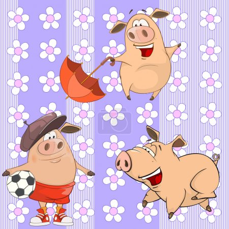 A background with pigs.