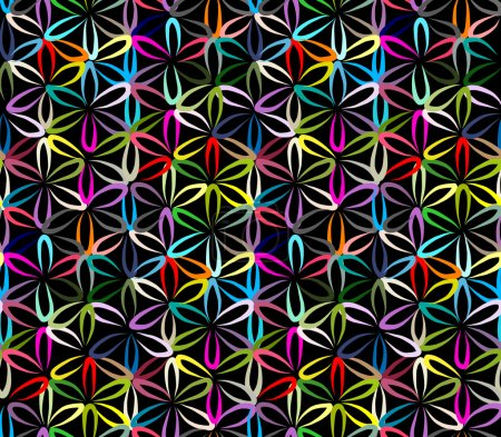 Flower of Life, seamless pattern for your design