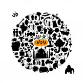 India icons collection Sketch for your design