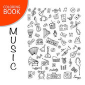 Music instrument set sketch for your design