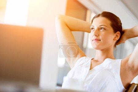 Beautiful woman portrait indoors