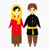Jakarta - Betawi Traditional Dress Vector Illustration