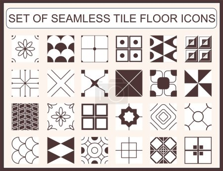 Set of seamless tile floor icons