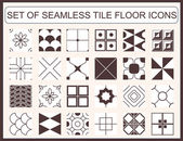 Collection of seamless tile floor icons