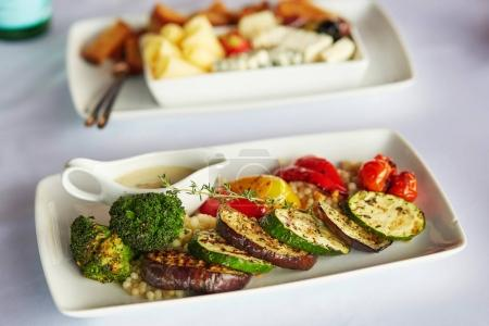 Delicious grilled zucchini, broccoli, eggplant and bell pepper