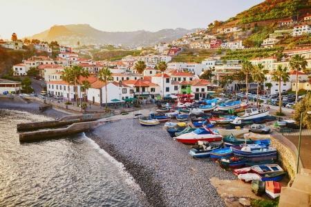 View of Camara de Lobos village, Madeira, Portugal