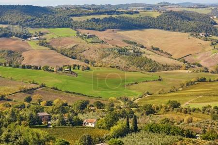 Landscape of San Quirico d'Orcia, Tuscany, Italy