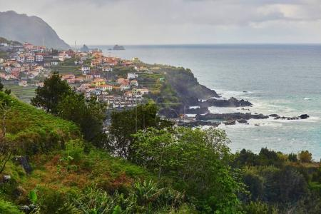 Fishing village Seixal with its lava pools on Madeira island, Portugal