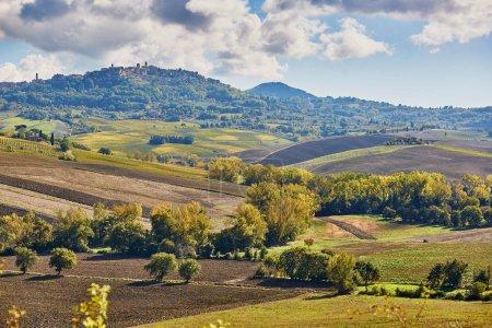 Landschaft von San Quirico d 'orcia, Toskana, Italien