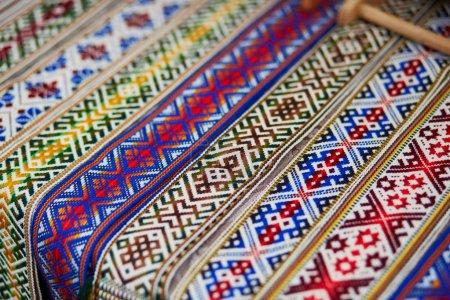 Handmade textile bookmarks sold on Easter fair in Vilnius