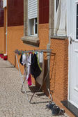 Drying laundry on the street.