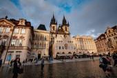 Prague, Czech Republic - 11.08.2019., Beautiful streets and arch