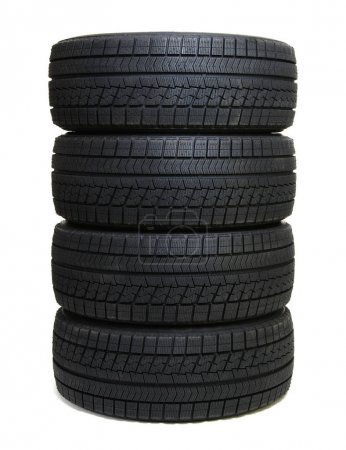 Photo for Car tires isolated on white - Royalty Free Image