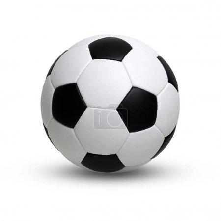 Photo pour Ballon de football isolé sur blanc - image libre de droit