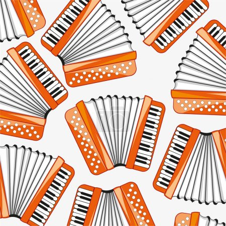 Music instrument accordeon decorative pattern
