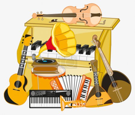 Much music instruments