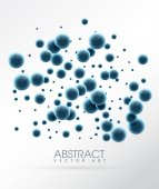 Abstract glossy balls Futuristic background with bubbles