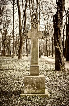 old historic cemetery cross