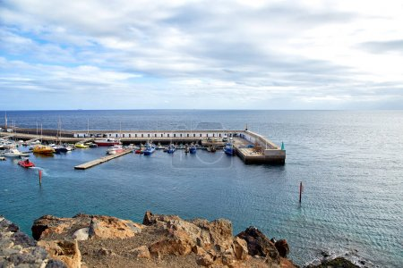 Yacht dock of Puerto del Carmen, Lanzarote Island, SPAIN