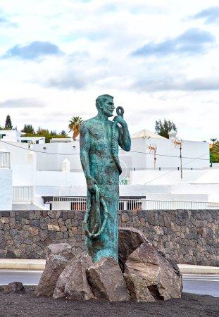 Fisherman statue in Puerto del Carmen