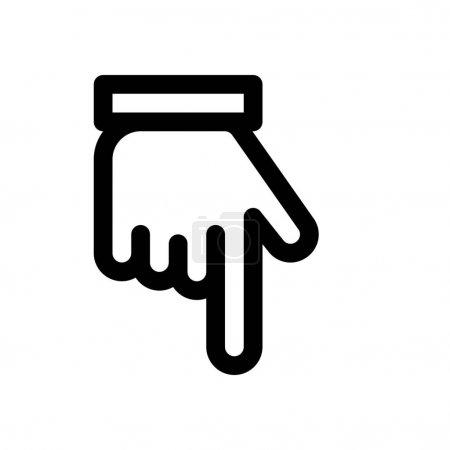 Backhand pointer icon, vector illustration...