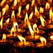 Burning candles in Buddhist temple. Dharamsala, Hi...