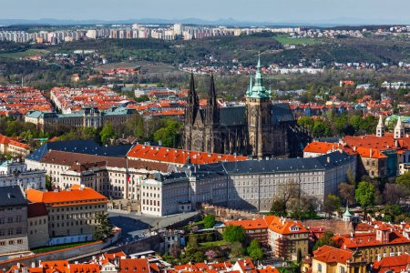 Aerial view of Hradchany: the Saint Vitus St. Vitts Cathedral