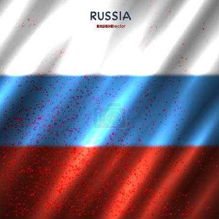 Russia flag in blood
