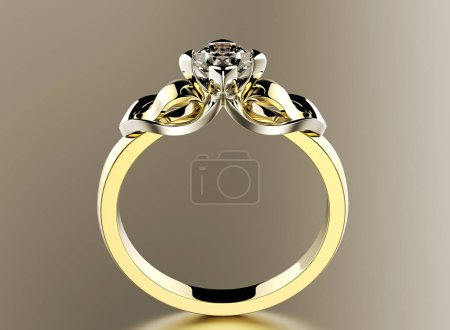 elegant ring with gem