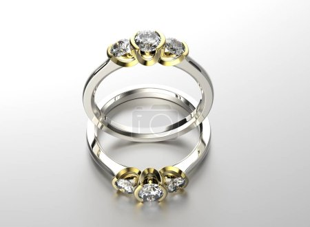 two rings with gems