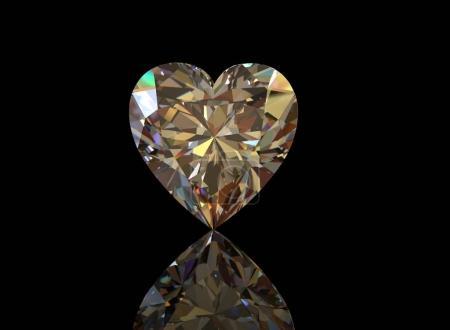 Diamond on Black Background.