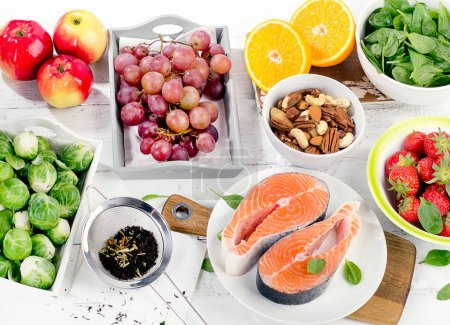 Foods rich in antioxidant. Healthy diet