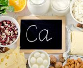Group of products rich in calcium. Healthy eating.