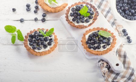 tasty tarts with blueberries
