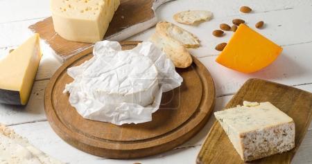 Varios types of cheeses