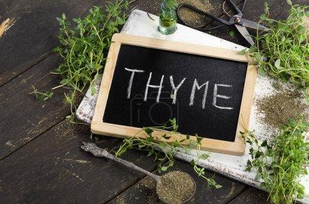 Fresh Thyme on board