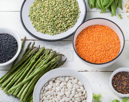 Vegan protein sources collection