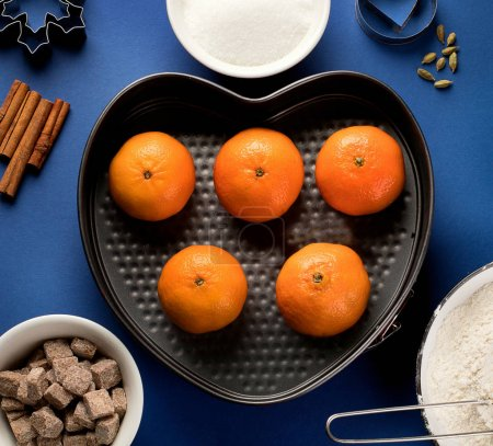 Photo for Baking background. Variety ingredients for baking. Top view - Royalty Free Image