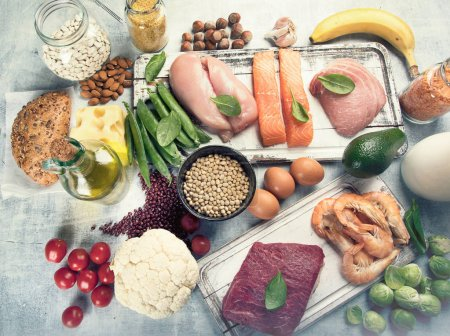 Photo for Balanced diet. Healthy food concept - Royalty Free Image