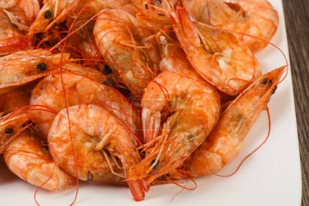 Delicious Boiled prawns