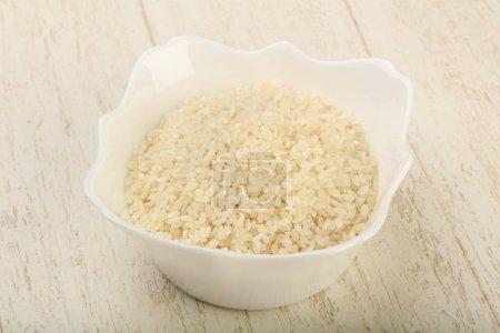 Raw rice heap