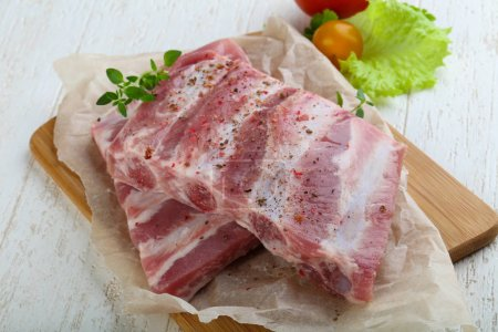 Raw pork ribs