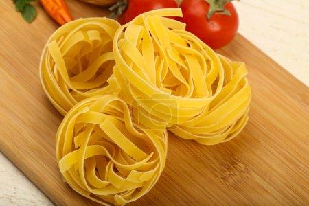 Raw fettucine pasta