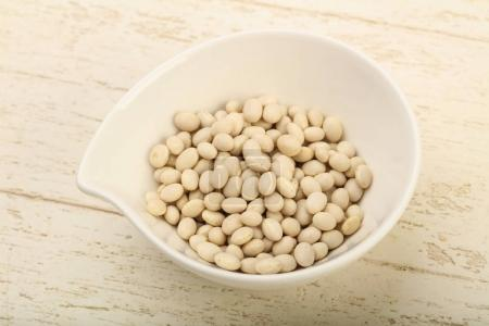 White beans in the bowl