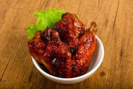 Chicken wings in teriyaki sauce