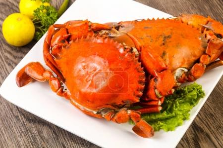 Boiled crab fresh and hot - delicous appetizer